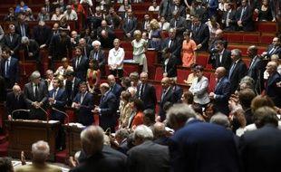 L'Assemblée Nationale rend hommage à Charles Pasqua, le 30 juin 2015