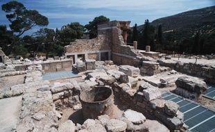 Les ruines du site grec de Knossos.