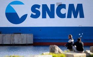 Un navire de la SNCM le 20 décembre 2013 dans le port d'Ajaccio