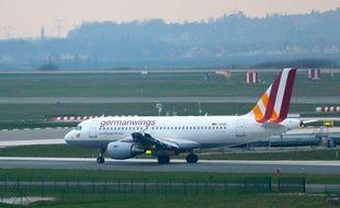Un A320 de la compagnie Germanwings sur le tarmac d'un aéroport.