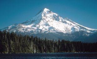 Le mont Hood, dans l'Oregon aux États-Unis.