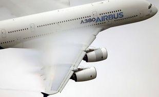Un Airbus A380 en démonstration au Bourget en 2015.