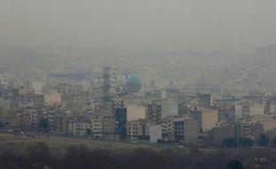 Téhéran sous la pollution le 30 décembre 2015
