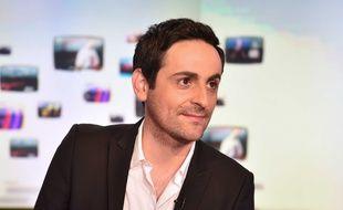 L'animateur Camille Combal, animateur de radio et de télévision, le 19 février 2016 à Paris