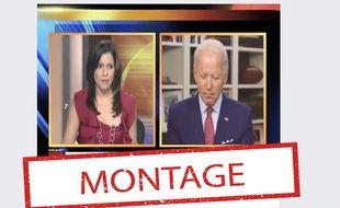 Un montage trompeur laisse penser que Joe Biden s'est endormi pendant une interview, qu'il n'a d'ailleurs jamais donnée.