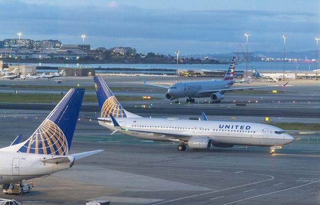 Un Boeing 737 d'United Airlines à l'aéroport de San Francisco, le 7 mars 2020.