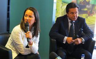 Johanna Rolland et Waldemar Kita le 19 septembre 2017 à Nantes.