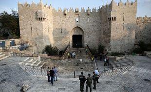 L'une des agressions s'est produite devant la porte de Damas à Jérusalem-Est, le 10 octobre 2015.