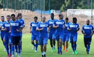 Les joueurs de Troyes à l'entraînement, le 25 juin 2015.