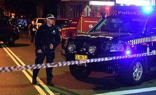 La police australienne dans la banlieue de Sydney, le 28 juillet 2017.