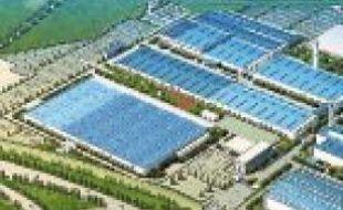 Vue 3D du site de l'usine à Shenzhen.