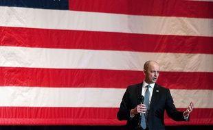 Le candidat républicain indépendant Evan McMullin, le 12 octobre 2016 dans l'Utah.