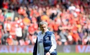 L'entraîneur de Chelsea José Mourinho, le 27 avril 2014 à Liverpool.
