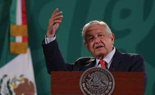 Le président mexicain Andrés Manuel Lopez Obrador, à Mexico le 27 juillet 2021 (illustration).