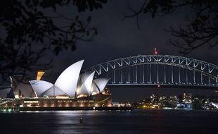 Le Harbour Bridge de la ville de Sydney en Australie. Image d'illustration.