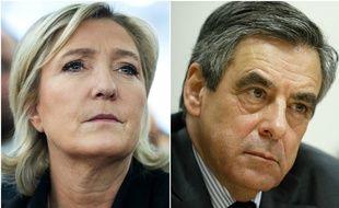 Marine Le Pen et François Fillon.