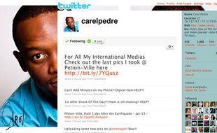 Le compte Twitter de Carel Pedre, journaliste haïtien.