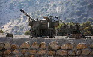 Des lanceur israéliens dans le plateau du Golan.