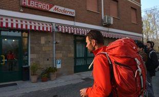 Jérôme Kerviel arrivant à Modène (Italie), le 18 mars 2014.