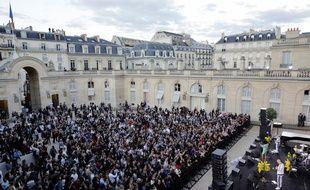 La fête de la musique au Palais de l'Elysée en 2019.
