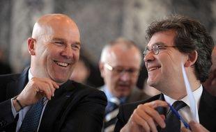 Bruno Bonnell, ici en 2014 aux côtés d'Arnaud Montebourg, alors ministre du Redressement Productif.