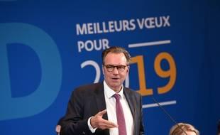 Renaud Muselier lors de ses voeux à la presse à Marseille.