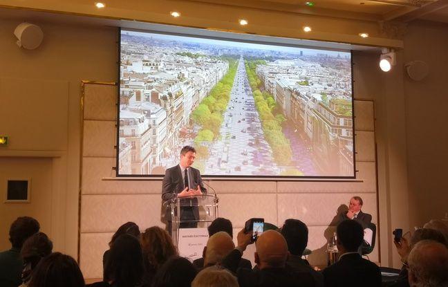 Benjamin Griveaux lors de son intervention face au Comité Champs-Elysées, mardi 28 janvier.