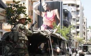 L'armée libanaise à Beyrouth le 10 mai 2008