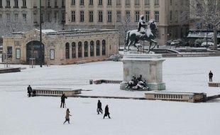 Lyon sous la neige, le 15 janvier 2013.