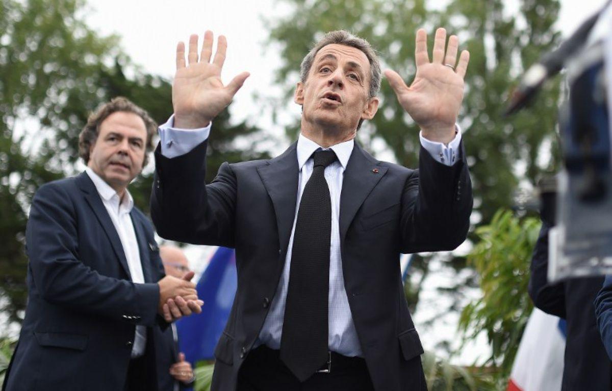 Nicolas Sarkozy à La Baule pour l'université du parti Les Républicains, le 4 septembre 2016 à La Baule. – JEAN-SEBASTIEN EVRARD / AFP