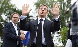 Nicolas Sarkozy à La Baule pour l'université du parti Les Républicains, le 4 septembre 2016 à La Baule.