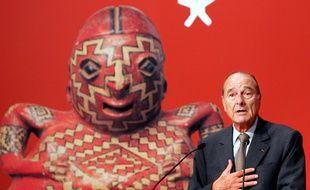 Jacques Chirac le 20 juin 2006 pour l'inauguration du musée du Quai Branly.