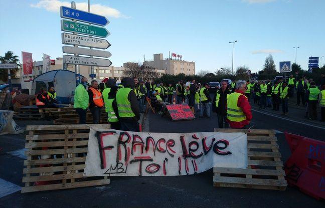 Montpellier: les gilets jaunes refusent de lâcher le rond-point symbole de leur lutte