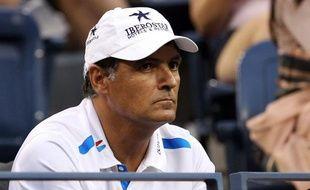 Toni Nadal, l'entraîneur et oncle de Rafael Nadal, le 12 septembre 2011 à New-York.