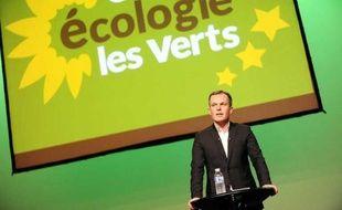 Le député EELV François de Rugy lors d'un meeting àNantes, le 14 mars 2011.