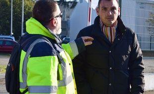 Benjamin Cauchy, l'un des leaders des gilets jaunes, le 21 novembre 2018.