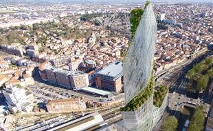 La Tour Occitanie dominera le quartier Matabiau qui sera complétement revu et corrigé d'ici trente ans.