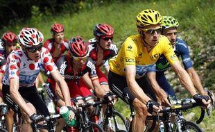 Les coureurs du Tour de France le 8 juillet 2012 lors de la 8e étape entre Belfort et Porrentruy.