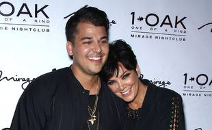 Les stars de la télé-réalité Rob Kardashian et Kris Jenner