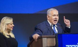 Benjamin Netanyahou, lors de la soirée électorale des législatives du début de l'année. (archives)