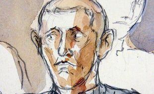 Robert Bérengier, croqué pendant le procèse du braquage de Gentilly en 2006