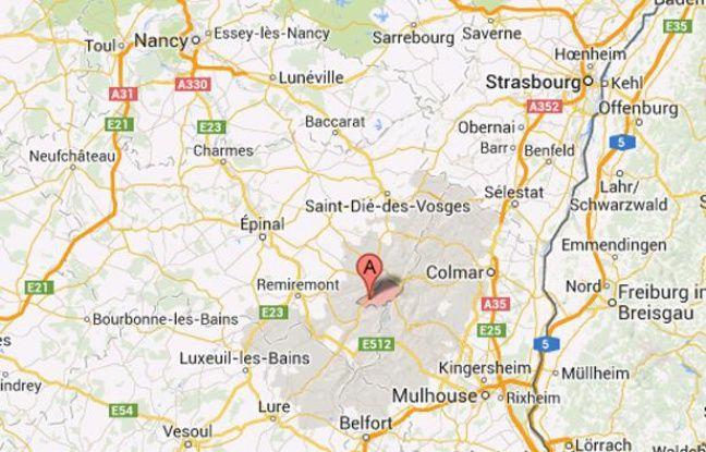 Google map de La Bresse, dans les Vosges.