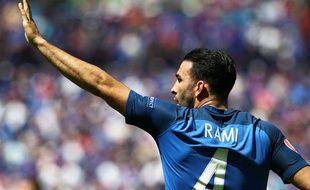 Adil Rami a souffert contre l'Irlande.