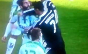Cristiano Ronaldo expulsé à Cordoue, le 24 janvier 2014.