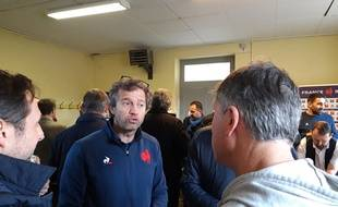 Fabien Galthié dans la salle communale de Montgesty, dans le Lot, le 13 novembre 2019.