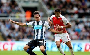 Florian Thauvin sous les couleurs de Newcastle face à Arsenal, le 29 août 2015.