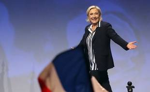 Marine Le Pen, en meeting à Nice, la 27 avril 2017.