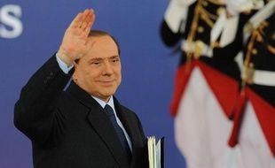 Le chef du Conseil italien Silvio Berlusconi à son arrivée au G20 au palais des festivals de Cannes, le 4 novembre 2011.