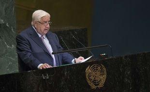 Le chef de la diplomatie syrienne, Walid al-Moualem, à L'ONU le 29 septembre 2018