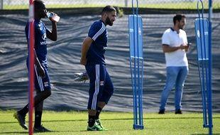 Nabil Fekir, ici lors d'un entraînement de reprise avec l'OL, le 4 juillet à Décines. FRANCK FIFE